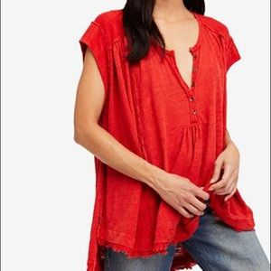 Free People Aster High-Low Henley / Size S ❤️